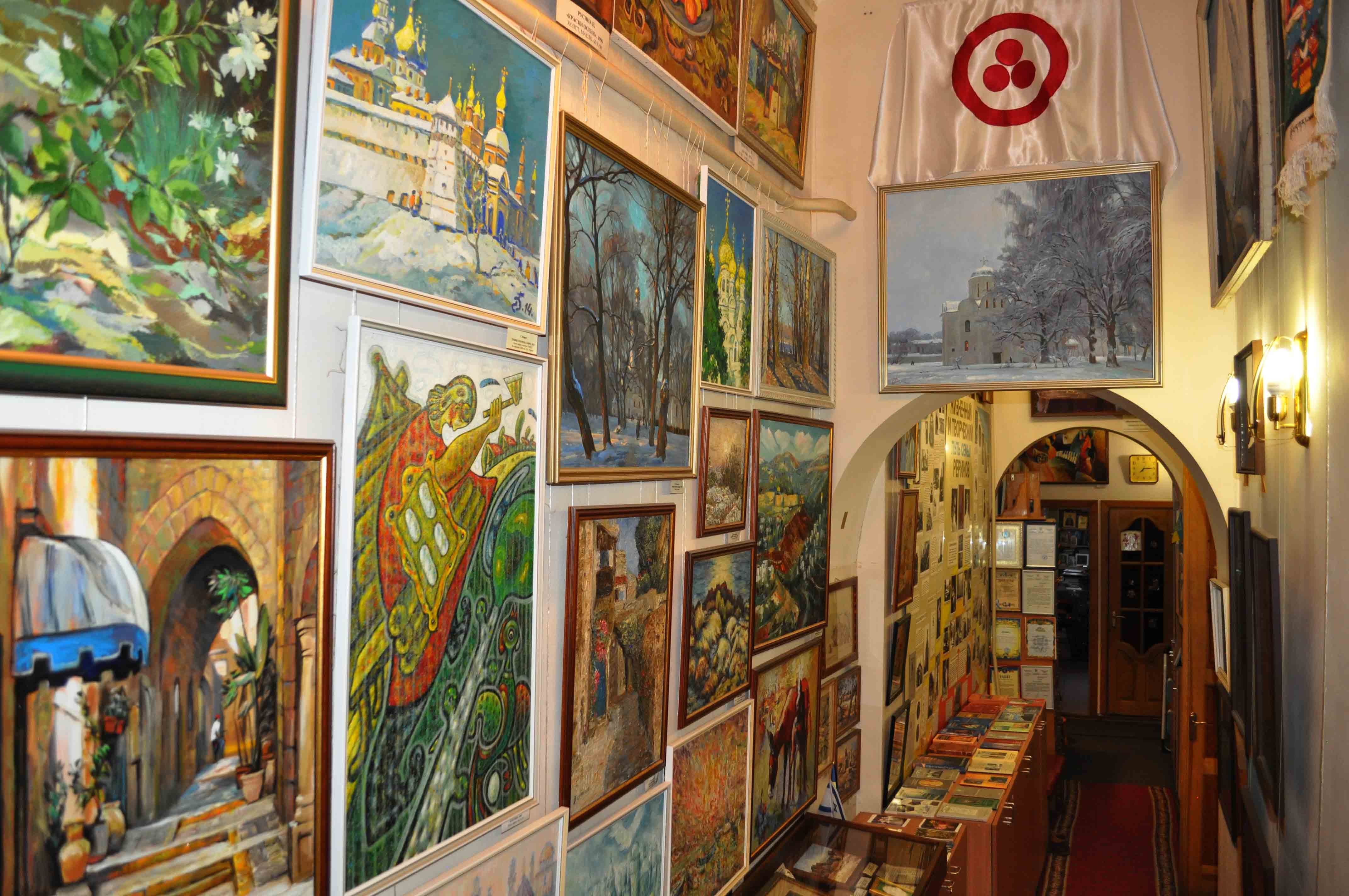 Exposition of contemporary artists of Ukraine, Israel and Odessa in the Odessa Roerich House Museum