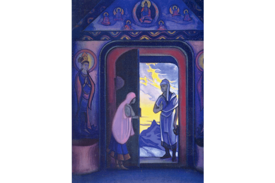Postcards with paintings by Nicholas Roerich